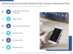 Home Appliances Producer Seed Salient Features Of Product Rendered By Consumer Electronics Firm Graphics PDF