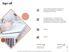 Home Decor Services Appointment Proposal Sign Off Ppt Ideas Demonstration PDF