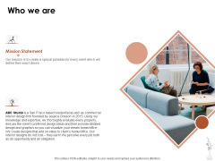 Home Decor Services Appointment Proposal Who We Are Ppt Infographic Template Gallery PDF