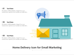 Home Delivery Icon For Email Marketing Ppt PowerPoint Presentation Slides Icon PDF