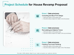 Home Remodeling Proposal Project Schedule For House Revamp Proposal Ppt PowerPoint Presentation Model Structure PDF