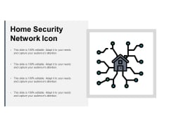 Home Security Network Icon Ppt PowerPoint Presentation Portfolio Ideas