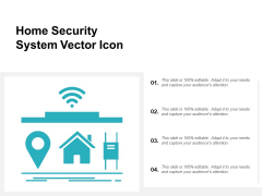 Home Security System Vector Icon Ppt PowerPoint Presentation File Influencers
