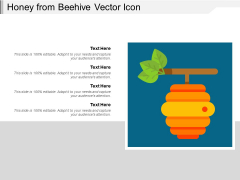 Honey From Beehive Vector Icon Ppt PowerPoint Presentation File Design Templates PDF