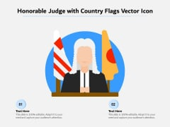 Honorable Judge With Country Flags Vector Icon Ppt PowerPoint Presentation File Summary PDF