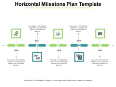 Horizontal Milestone Plan Template Ppt PowerPoint Presentation Icon Background Designs