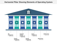 Horizontal Pillar Showing Elements Of Operating System Ppt PowerPoint Presentation Layouts Graphics Pictures PDF