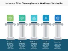 Horizontal Pillar Showing Ideas To Workforce Satisfaction Ppt PowerPoint Presentation Icon Vector PDF