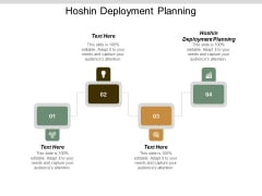 Hoshin Deployment Planning Ppt Powerpoint Presentation Styles Styles Cpb