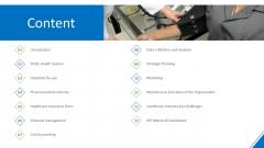 Hospital Administration Content Ppt Show Templates PDF