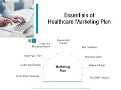 Hospital Management Essentials Of Healthcare Marketing Plan Ppt Guidelines PDF