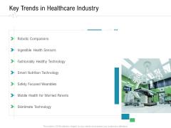 Hospital Management Key Trends In Healthcare Industry Ppt Portfolio Designs PDF