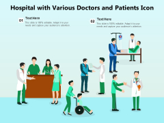 Hospital With Various Doctors And Patients Icon Ppt PowerPoint Presentation File Clipart Images PDF