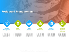 Hotel And Tourism Planning Restaurant Management Template PDF