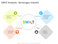 Hotel And Tourism Planning SWOT Analysis Beverages Industry Inspiration PDF
