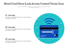 Hotel Card Door Lock Access Control Vector Icon Ppt PowerPoint Presentation File Icon PDF