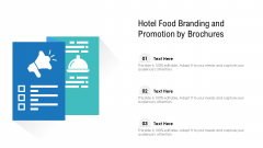 Hotel Food Branding And Promotion By Brochures Ppt Icon Information PDF