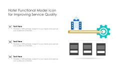 Hotel Functional Model Icon For Improving Service Quality Ppt PowerPoint Presentation File Backgrounds PDF