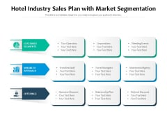 Hotel Industry Sales Plan With Market Segmentation Ppt PowerPoint Presentation File Maker PDF