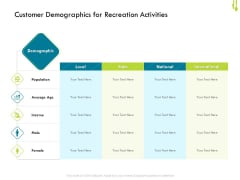 Hotel Management Plan Customer Demographics For Recreation Activities Summary PDF
