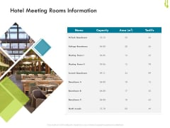 Hotel Management Plan Hotel Meeting Rooms Information Download PDF