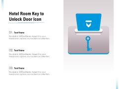 Hotel Room Key To Unlock Door Icon Ppt PowerPoint Presentation File Grid PDF
