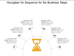 Hourglass For Sequence For Six Business Steps Ppt PowerPoint Presentation Icon Example File PDF