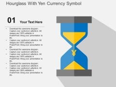 Hourglass With Yen Currency Symbol Powerpoint Templates