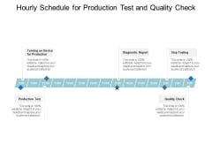 Hourly Schedule For Production Test And Quality Check Ppt PowerPoint Presentation Gallery Ideas