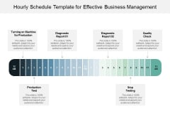 Hourly Schedule Template For Effective Business Management Ppt PowerPoint Presentation Styles Information