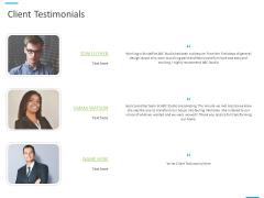 House Decoration Proposal Client Testimonials Ppt Gallery Clipart PDF