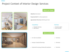 House Decoration Proposal Project Context Of Interior Design Services Ppt Outline Objects PDF