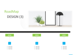 House Decoration Proposal Roadmap Design 2018 To 2020 Ppt Infographic Template Background Designs PDF
