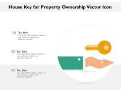 House Key For Property Ownership Vector Icon Ppt PowerPoint Presentation File Gridlines PDF
