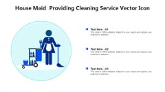 House Maid Providing Cleaning Service Vector Icon Ppt Infographic Template Slide PDF