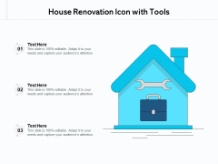 House Renovation Icon With Tools Ppt PowerPoint Presentation Gallery Summary PDF