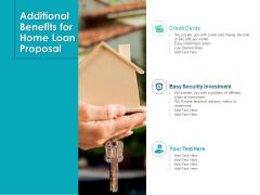 Housing Mortgage Additional Benefits For Home Loan Proposal Ppt Slides Background PDF
