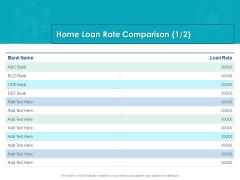 Housing Mortgage Proposal Home Loan Rate Comparison Bank Ppt Portfolio Graphics Download PDF