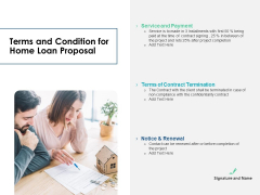 Housing Mortgage Terms And Condition For Home Loan Proposal Ppt Infographics Information PDF