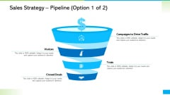 How Develop Perfect Growth Strategy For Your Company Sales Strategy Pipeline Campaigns Inspiration PDF