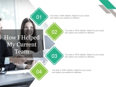 How I Helped My Current Team Ppt PowerPoint Presentation Portfolio Icon