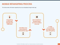 How Increase Sales Conversions Retargeting Strategies Mobile Retargeting Process Themes PDF