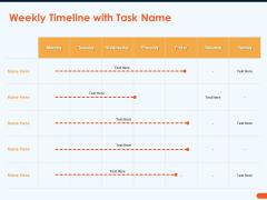 How Increase Sales Conversions Retargeting Strategies Weekly Timeline With Task Name Demonstration PDF
