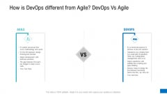 How Is Devops Different From Agile Devops Vs Agile Ppt Layouts Designs Download PDF