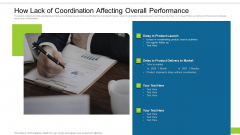 How Lack Of Coordination Affecting Overall Performance Ppt Portfolio Format PDF