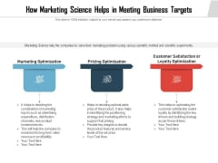 How Marketing Science Helps In Meeting Business Targets Ppt PowerPoint Presentation File Example Introduction PDF