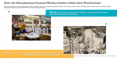 How The Manufacturers Ensured Workers Safety Within Their Workstations Ppt Infographics Graphics Design PDF