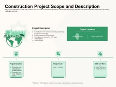 How To Effectively Manage A Construction Project Construction Project Scope And Description Ideas PDF