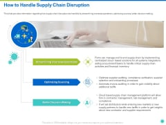 How To Handle Supply Chain Disruption Ppt Icon Images PDF