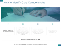How To Identify Core Competencies Ppt PowerPoint Presentation Inspiration Background Image